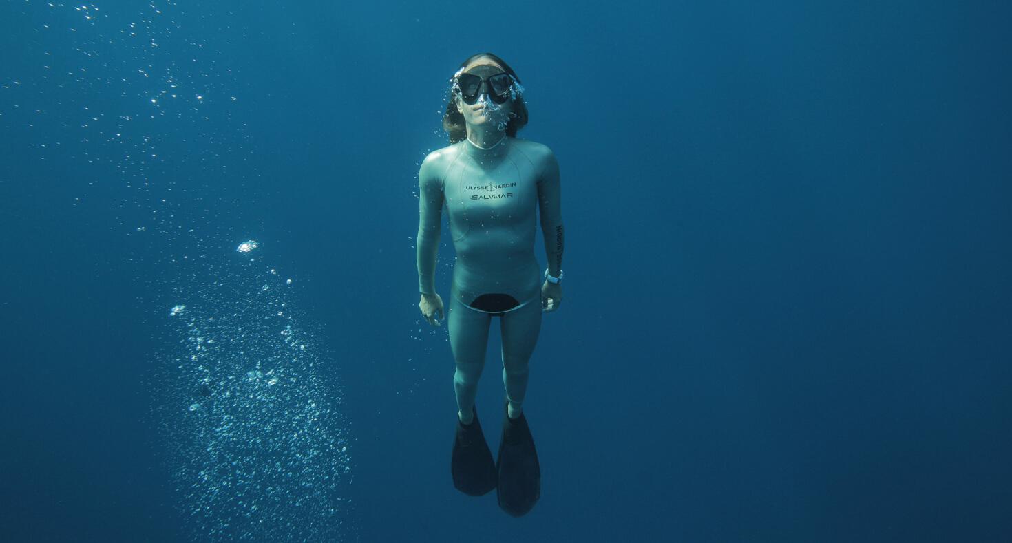 Alessia Zecchini sous l'eau